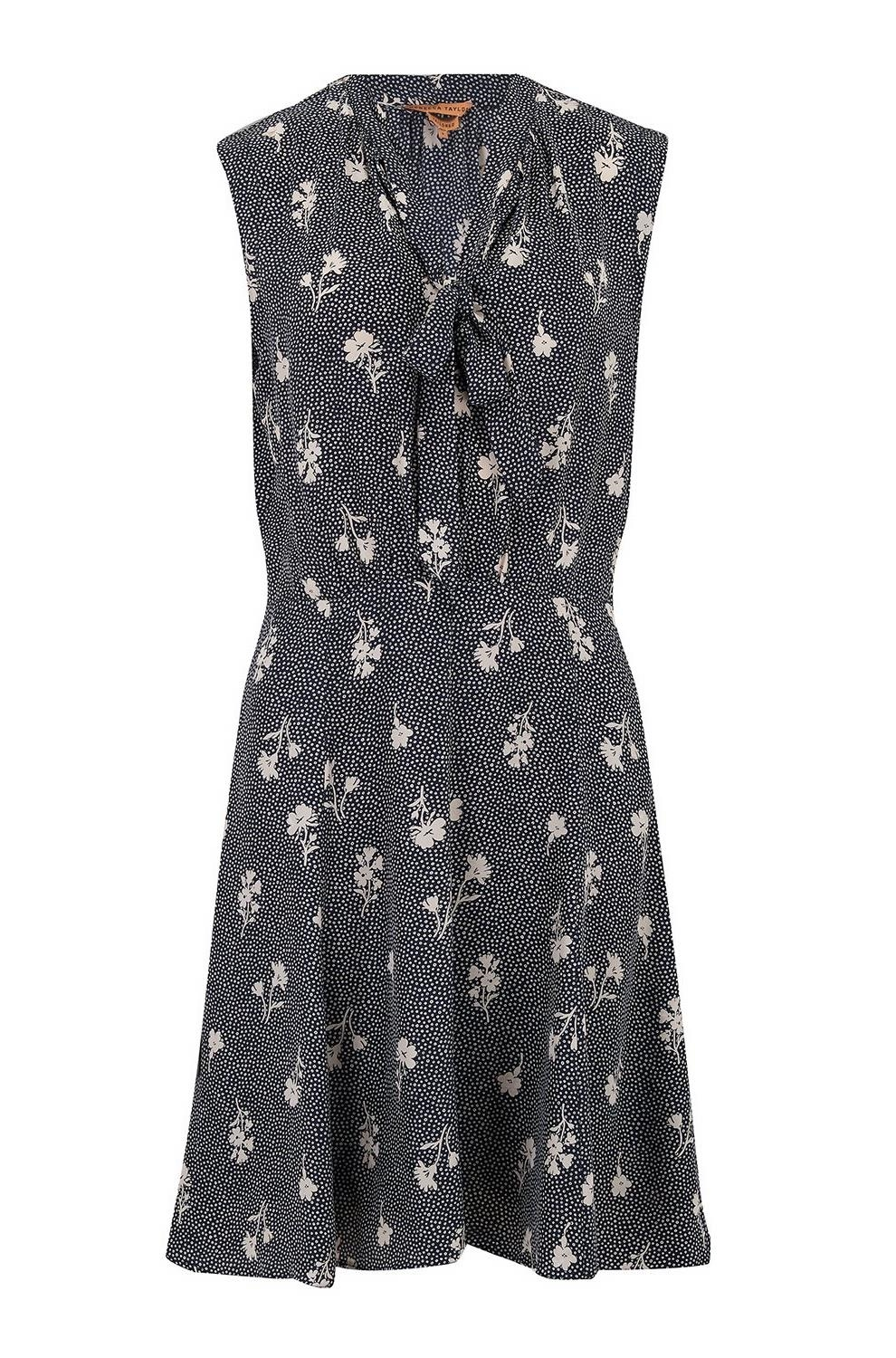 2ae7dcc233 Sleeveless Wildflower Dress in Navy Combo