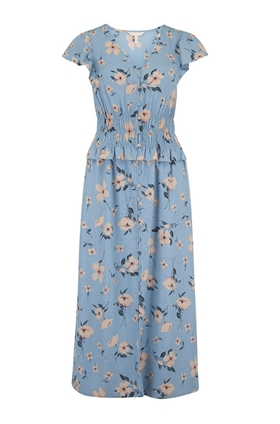 Rebecca Taylor Daniella Floral Dress in Lagoon
