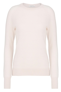 sloane crew neck sweater in ballet pink
