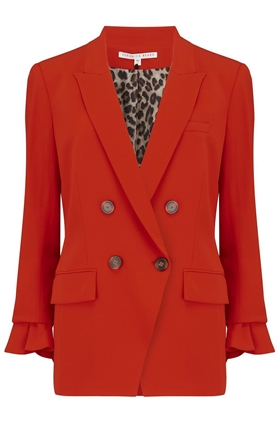 Veronica Beard Dinah Dickey Jacket in Poppy