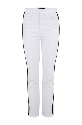 carly kick flare jean in white