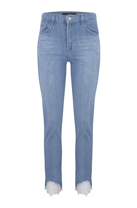 J Brand Ruby High Rise Cigarette Jean in Fortuny Destruct