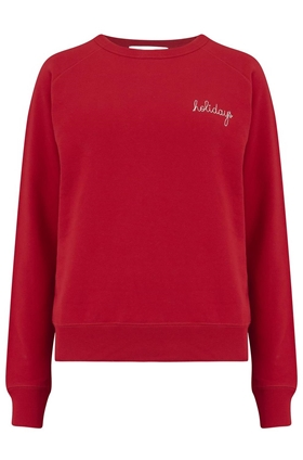 Holidays Sweatshirt in Red