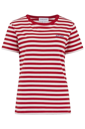 Paradis Sailor Stripe Tee in Red and White