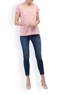 katie scoop neck tee in bubble