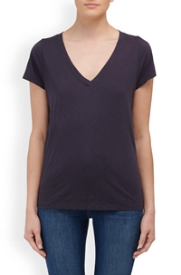 jill v neck tee in ink