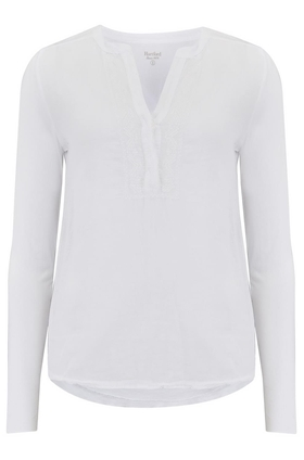 Hartford Tagine Embroidered Top in White