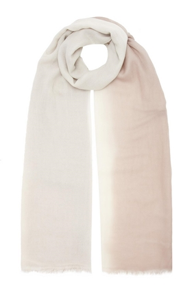 DOUCE GLOIRE Patmos Scarf in Chatoush and Ivory