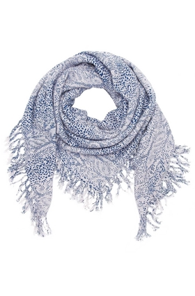 DOUCE GLOIRE Python Scarf in Cold Blue