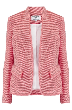 Notch Collar Jacket in Coral