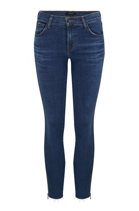 J Brand 835 Skinny Cropped Jean with Zip in Austin