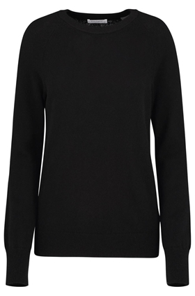 sloane crew neck sweater in black