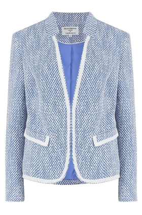 Helene Berman Notch Collar Jacket in Light Blue