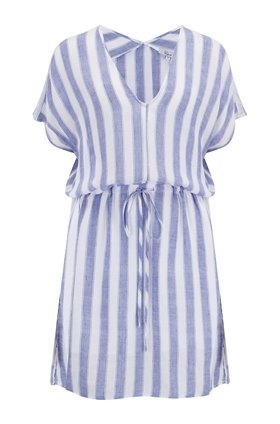 Wren Dress in Pacifica Stripe