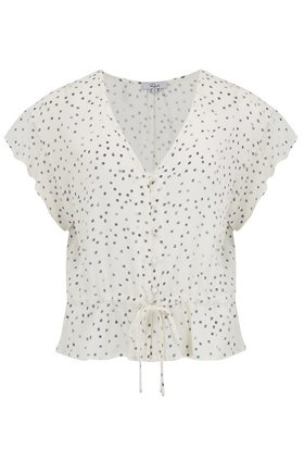 Rails Bretton Top in Ivory Speckled Dot