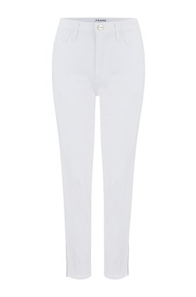 Frame Le Sylvie Straight Jean in Blanc