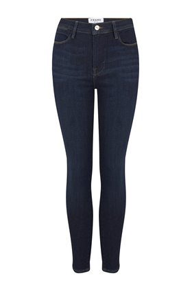 Frame Le High Skinny Crop Jean in Samira