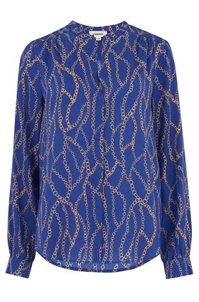 L'AGENCE Bardot Blouse in Royal Blue