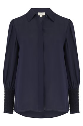 L'AGENCE Lucien Blouse in Midnight Blue