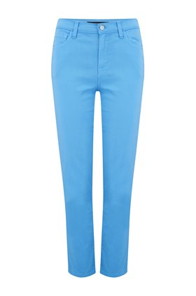 Ruby Cropped Cigarette Jean in Hydrangea Blue