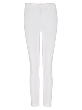 J BRAND JEANS - Ruby Cropped Cigarette Jean in Blanc