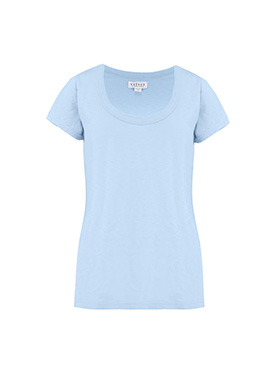 VELVET - Katie Scoop Neck Tee in Ice
