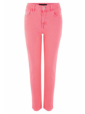 J BRAND JEANS - Ruby Cropped Cigarette Jean in Pink Coral