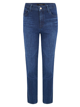 J BRAND JEANS - Exclusive Ruby Cropped Cigarette Jean in Nightshade