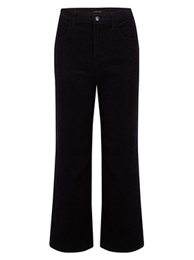 J BRAND JEANS - Joan Wide Leg Cropped Jean in Black Corduroy