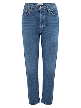AGOLDE - Riley Straight Crop Jean in Air Blue