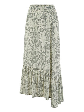 LILY & LIONEL - Exclusive Cleo Skirt in Sage Snake