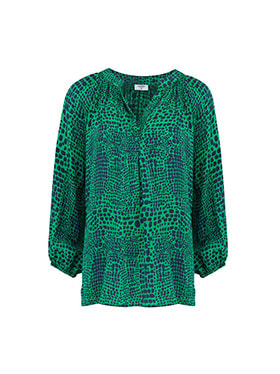 MERCY DELTA - Clevedon Blouse in Jungle Green