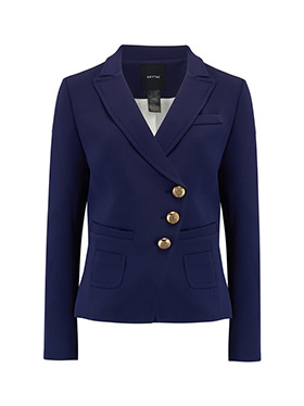 SMYTHE - Wrap Blazer in Navy