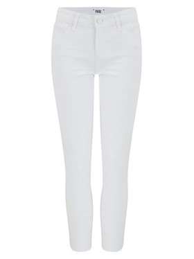 PAIGE - Skyline Skinny Crop Jean in Lived in Crisp White