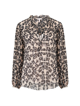 REBECCA TAYLOR - Long Sleeve Kaleidoscope Top in Black Combo