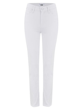 PAIGE - Hoxton Straight Ankle Jean in Crisp White