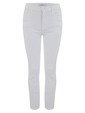 J BRAND - Ruby Cropped Cigarette Jean In Blanc