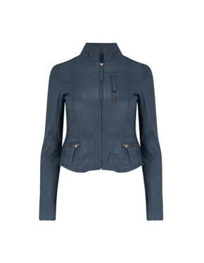 MDK - Ruci Leather Jacket In Navy