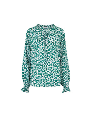 Lily and Lionel - Florence Blouse In Green Mini Isla