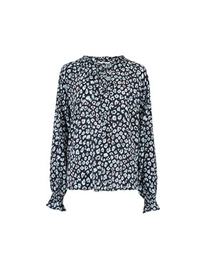 Lily and Lionel - Florence Blouse In Navy Mini Isla
