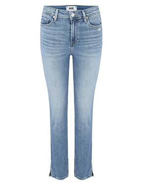 PAIGE - Cindy Straight Leg Jean In Seaspray Distressed