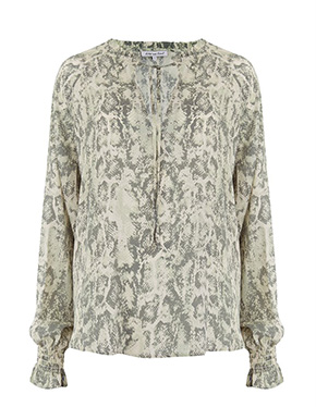 LILY & LIONEL - Exclusive Florence Shirt in Sage Snake
