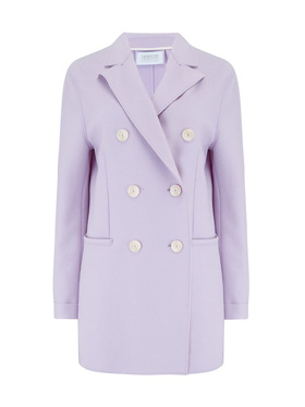 HARRIS WHARF LONDON - Long Double Breasted Blazer in Lavender