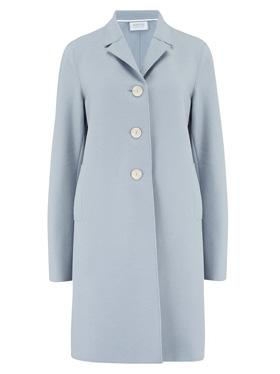 HARRIS WHARF LONDON - Boxy Coat in Grey Blue