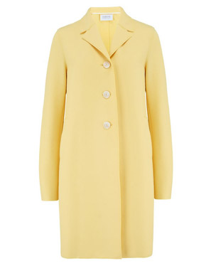 HARRIS WHARF LONDON - Boxy Coat in Patel Yellow