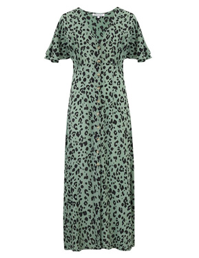 LILY & LIONEL - lola Dress in Sage Leopard