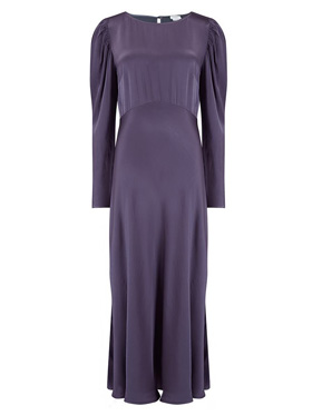GHOST - Rosaleen Dress in Deep Mauve