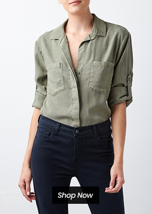 Bella Dahl - Split button down shirt in soft arm