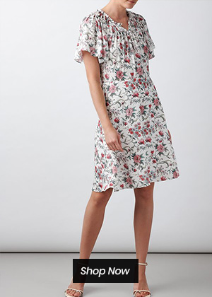 Rebecca Taylor - sleeveless esmee floral dress in rosebud combo