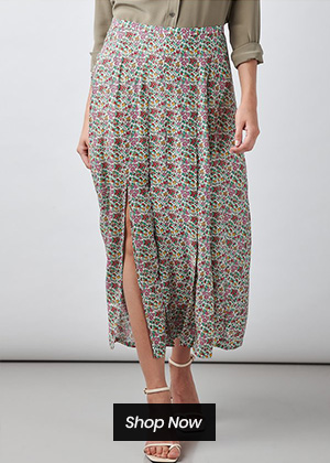 Rixo - Georgia skirt in driving miss daisy